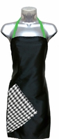 Hairstylist Apron Black-Houndstooth-Apple