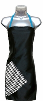 Hairstylist Apron Black-Houndstooth-Blue-Topaz