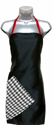 Hair Salon Apron Black-and-Red-Houndstooth