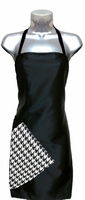 Hairstylist Apron Black-Houndstooth