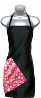 Salon Apron Black-and-Pink