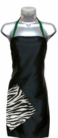 Hair Salon Apron Black-Zebra-Green