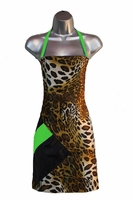 Salon Apron Leopard-Apple