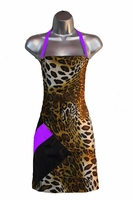 Salon Apron Leopard-Purple