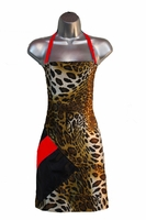Salon Apron Leopard-Red