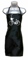 Salon Apron Bicycle, Basket, Butterflies
