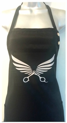 Apron Salon Stylist Hair Nail Grooming- Winged Scissors- Any Color