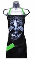 Stylist Apron with Fleur De Lis  Apple