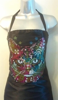 Hair Salon Apron Cat Multicolored