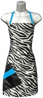 Hair Salon Apron Zebra Blue Topaz