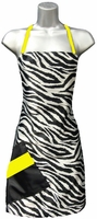 Hair Salon Apron Zebra Print Yellow