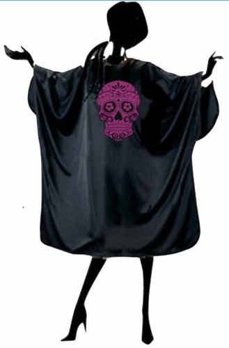 Hair Salon Cape With Skull