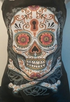 Hair Salon Stylist Apron Sugar Skull