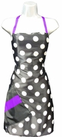 Hair Salon Stylist Apron Big Dot Purple