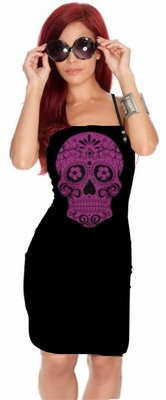 Hair Stylist Salon Apron With Skull