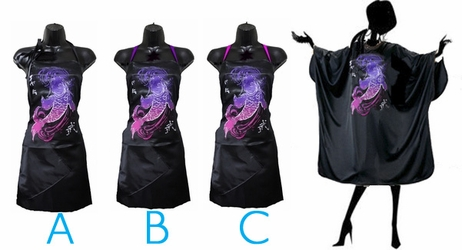 Salon Cape and Stylist Apron Set Koi <font size=2.5>