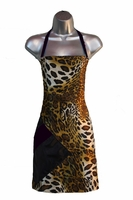 Salon Apron Leopard-Black