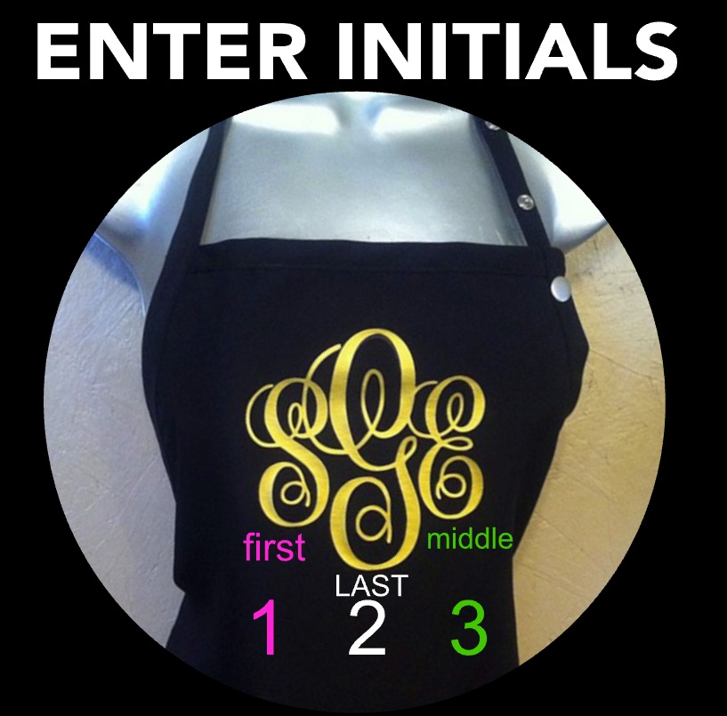 Salon Apron- Monogram- Any Color