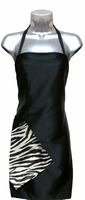 Cute Hair Salon Apron Zebra and Black