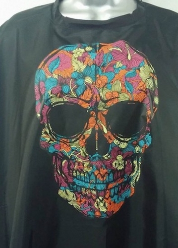 Salon Cape Custom Multicolored Skull Barber/Stylist