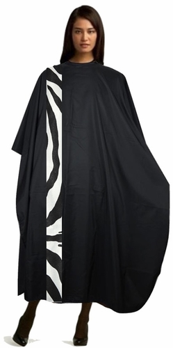 Salon Hair Cutting Cape: Zebra