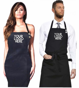 salon stylist apron custom logo printing black or brown apron