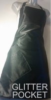 Stylist Apron Black-Glitter-Pocket