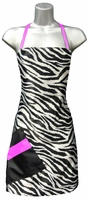 Hair Salon Apron Zebra Pink
