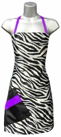 Wild Hair Salon Apron- Zebra and Purple Print
