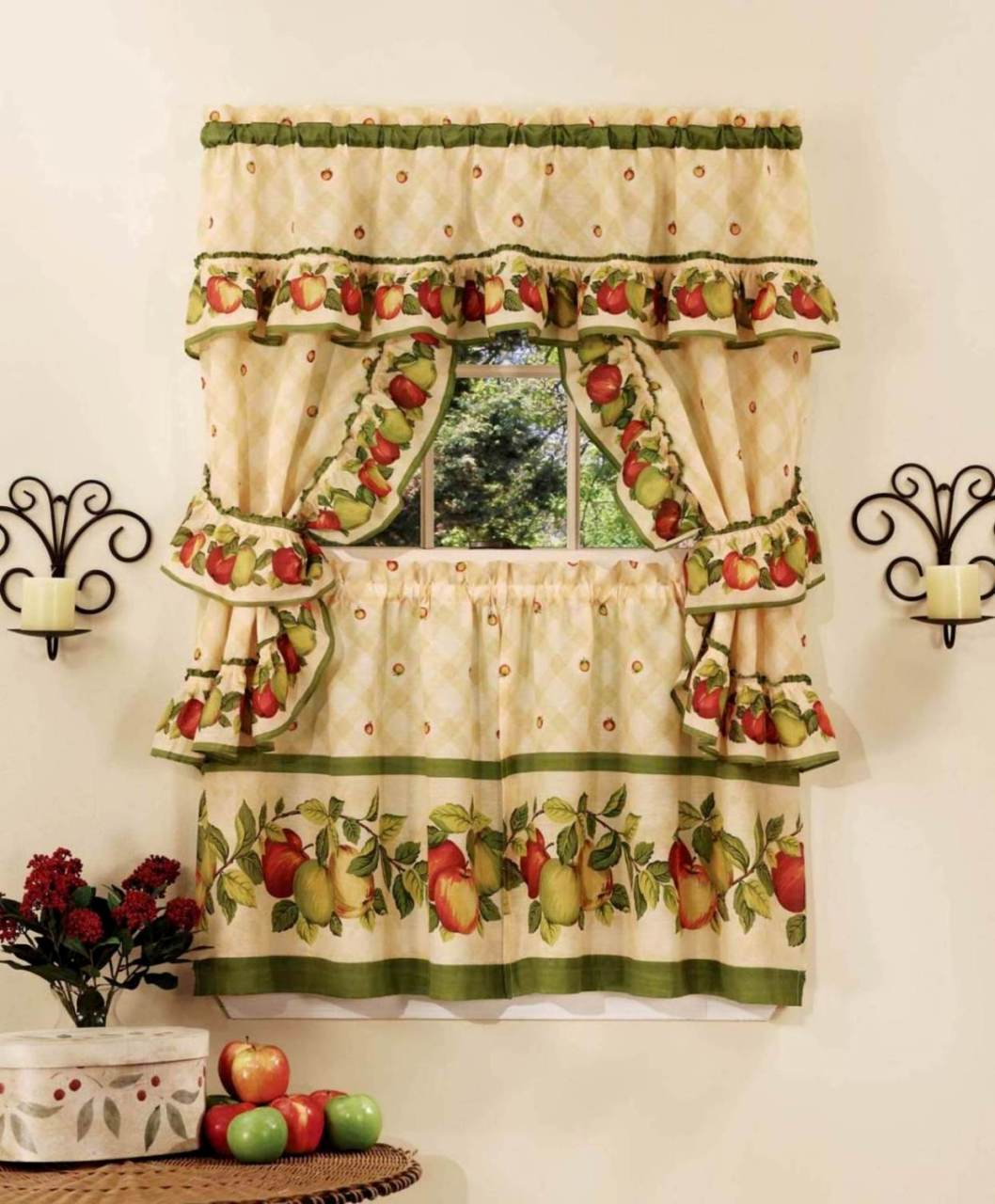 Apple Orchard Kitchen Curtain Set Moshells