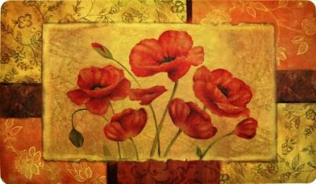 Red Poppy X Cushions For Kitchen Chairs