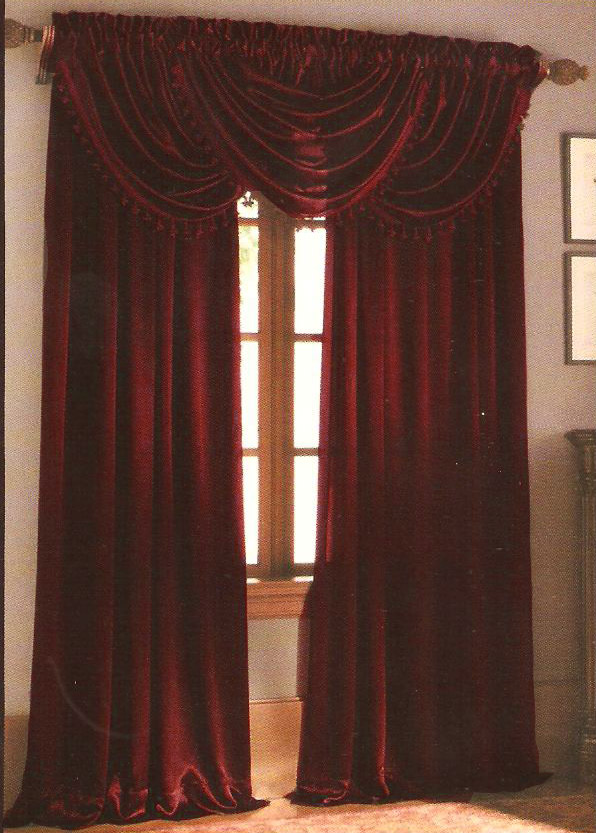 hilton waterfall valance brown home decor outlet. Black Bedroom Furniture Sets. Home Design Ideas
