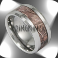 10MM Wide Men's Tree Camo Tungsten Ring Camouflage Wedding Band