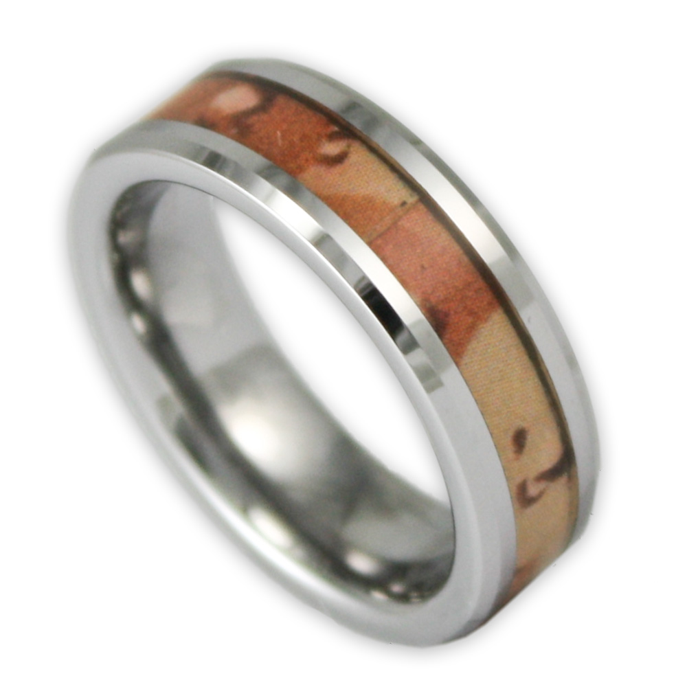 6mm women39s desert camo tungsten ring camouflage wedding for Tungsten camo wedding rings