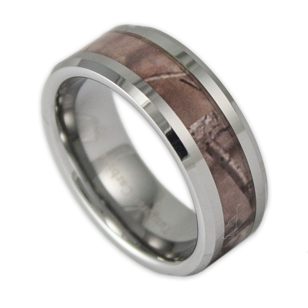 8mm wide men 39 s tree camo tungsten ring camouflage wedding band by ring ninja. Black Bedroom Furniture Sets. Home Design Ideas