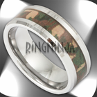 This Ring Is 8mm In Width Has A Beveled Edge And Very Distinctive Woodland Camouflage Inlay Whether You Are Old School Army