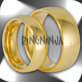 His and Hers 18K Gold Plated Domed Stainless Steel Ring Set
