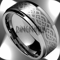Laser Etched Tungsten Rings