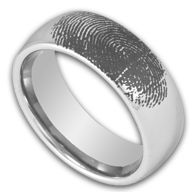 Tungsten Fingerprint Rings