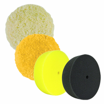 "Buff & Shine Curved Back 3"" Foam & Wool Grip Pads"