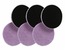 "<b>Lake Country 6.5"" x 1/4"" ""Thin"" Purple Foamed Wool Pad 6 Pack</b>"