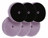 "<b>Lake Country 6.5"" by 1"" Purple Foamed Wool Pad 6 Pack</b>"