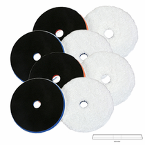 "<b>Lake Country HDO 5.5"" Heavy & Light Cut Fiber 1 Step Pad (OSP) 8 Pack</b>"