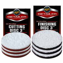 "<b>Meguiars DA 3""  Microfiber Cutting & Finishing Pad 6 Pack  </b>"