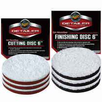 "<b>Meguiars DA 6"" Microfiber Cutting & Finishing Pad 6 Pack</b"