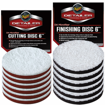 "<b>Meguiars DA 6"" Microfiber Cutting & Finishing Pad 12 Pack</b>"