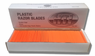 Plastic Razor Blades - Double Edge 100 Pack - Case of 10 (1,000 Blades)