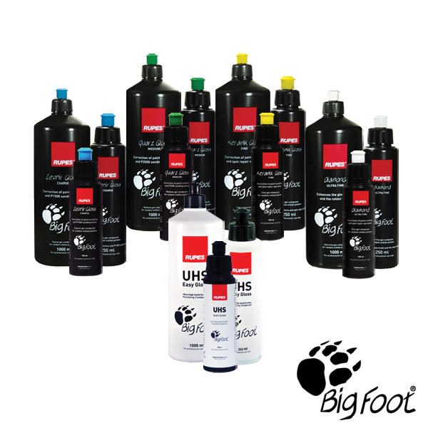RUPES BigFoot Polishing Compounds and Paint Sealant