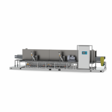 16 Inch Conveyorized Parts Washer with Washing, Rinsing, and Drying Stages