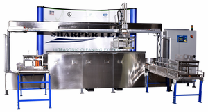 Three Tank System; Clean Rinse Dry With 50 lbs Load Capacity - Load and Unload Conveyor